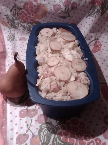 Teglia di riso con le pere