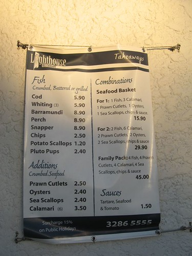 Lighthouse menu@Cleveland Pt