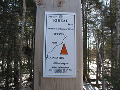 New Rideau Trail sign