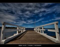 Monday Blues (Sam Ili) Tags: sea sky color beach clouds canon bay australia hdr batemans shoalhaven photomatix explored 450d eurobodalla canon1022mm3545