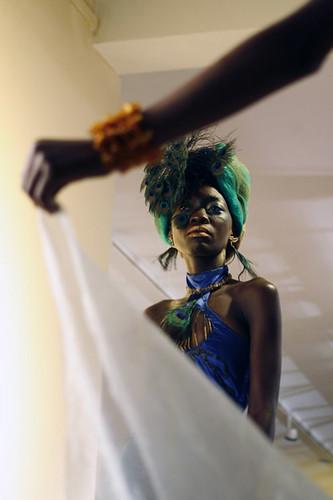 Kenyan glamor model at Fashion Show