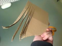 Use remaining cardboard for mane