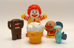 McDONALDS ice cream ! (kingkong21) Tags: mcdonalds icecream domo anpanman ronaldmcdonald marshstomp