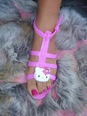 ★PinkY~ Hello Kitty Sandals★ (Pinky Anela) Tags: pink summer hk cute beach hellokitty pinky sandal