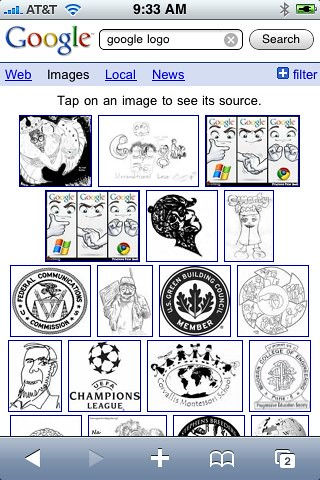Google Image Search on iPhone