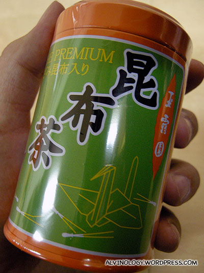 Seaweed tea which Rachel bought for her dad