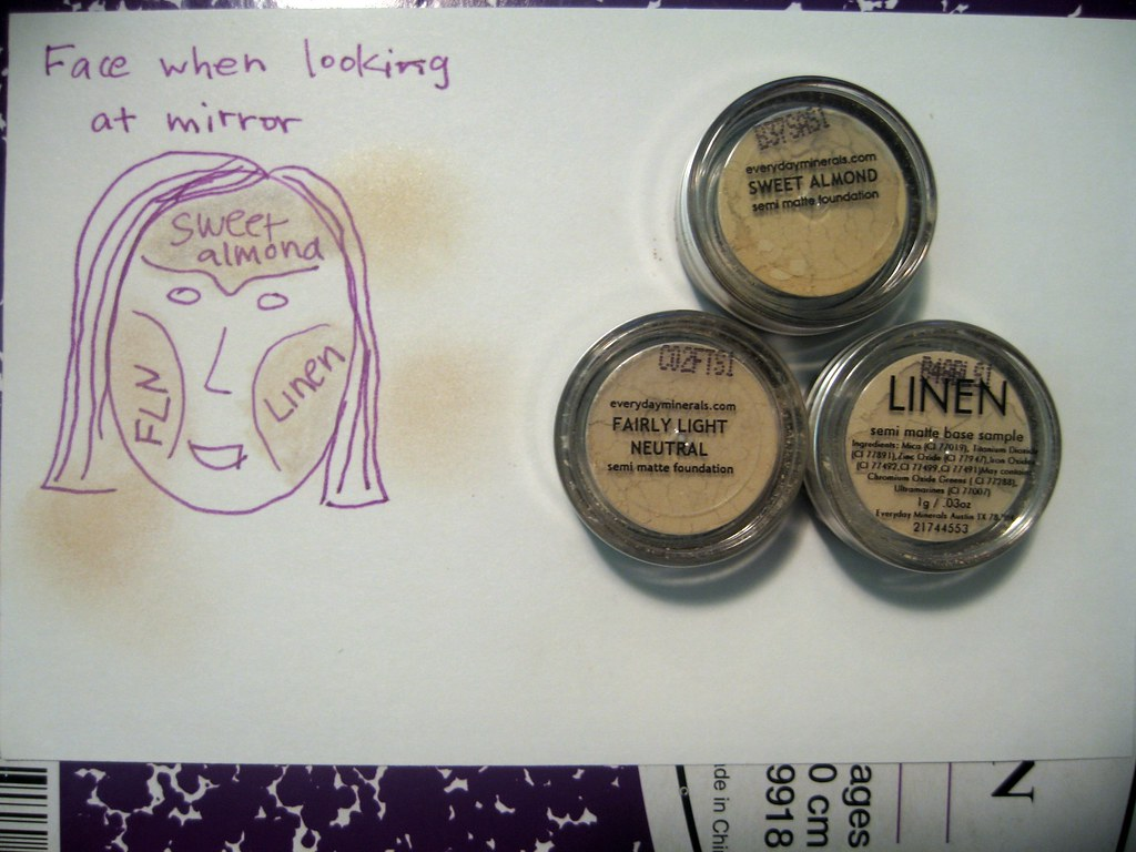 Day 73 - Mineral makeup samples