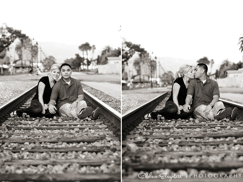 Santa Barbara Train Tracks Engagement