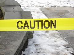 caution ice