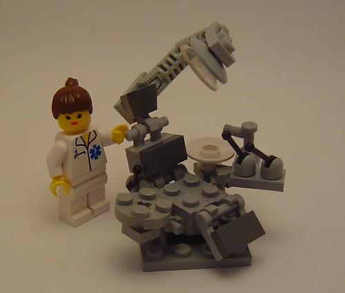 custom Lego minifig dentist chair