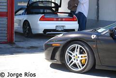 F430 and NSX (jorgerios) Tags: white mexico big nikon candy pipes s ferrari garrett turbo porsche subaru straight nikkor impreza wrx sti monterrey acura michelin apr nsx volk gt2 930 carrera f430 targa tein 996 revo 993 997 hre 1870 slicks novitec d40 carrera4s d40x 55200vr unitronic