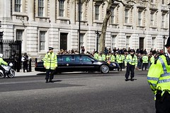 President OBama leaving Downing Street (Fred Dawson) Tags: usa london president obama downing g20 streetusapresidentlondong20