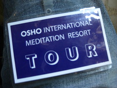 Osho Ashram Tour Group Badge