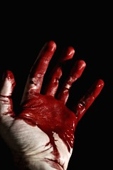 With bloody hands, I say goodbye. (Andrew _ B) Tags: blood 6ws hand sb600 sixwordstory bloody goodbye bloodyhand fakeblood bloodhand fgr bloodyhands