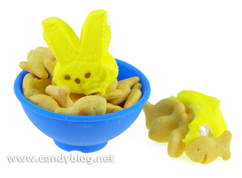 Peeps + Goldfish Crackers
