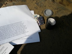 letterbox found! (kellyatacat) Tags: easter picnic letterboxing ardenwood