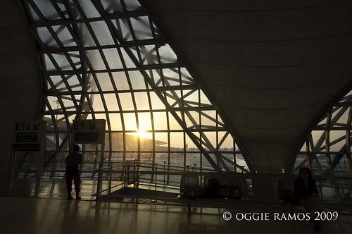 suvarnabhumi airport sunrise