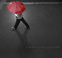 My ReD uMbRelLa... (~ankur~) Tags: passerby redumbrella frommybalcony explored abphotography actuallyliketotitleitsomethingelse