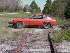 Buckingham Branch Railroad and 1978 Datsun 280Z (lionel682) Tags: railroad virginia norfolk southern oxford clarksville datsun 280z
