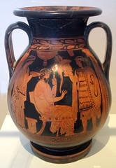 Departure of a warrior (diffendale) Tags: red museum ceramic greek ancient snake helmet athens greece national figure attic vase pottery warrior late shield academy departure archaeological plato picnik athenian mannerist a pelike 5thcbce pleiades:findspot=579885 pleiades:origin=579885 late5thcbce