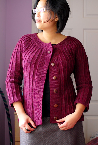 265.365 - slip stitch ridge cardigan