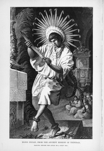 011-Los Ríos Amazonas y Madeira 1875- Danza ante el altar en la antigua mision de Trinidad