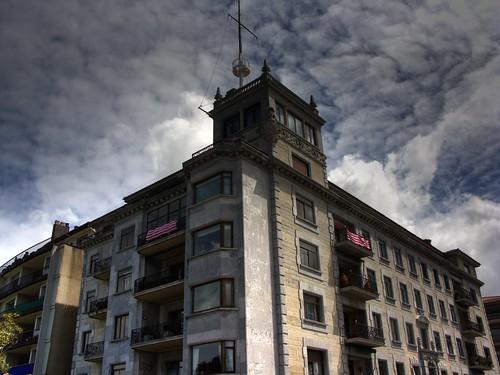 Banderolas del Athletic de Bilbao en Las Arenas (Getxo)
