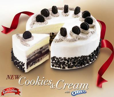 Red Ribbon Cookies & Cream with Oreo Cake