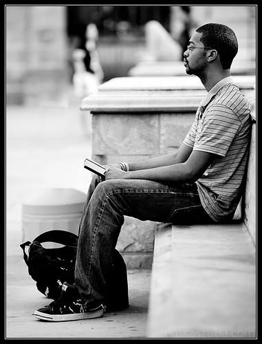 Sitting Down.