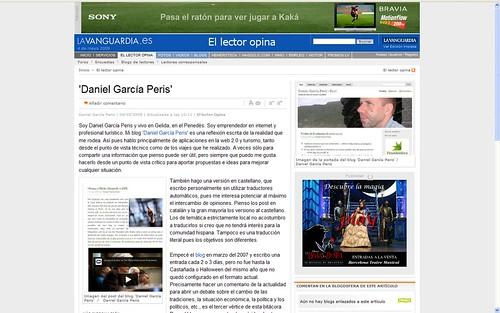 La Vanguardia: El lector opina 4-5-09 - Daniel García Peris