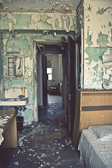 (yyellowbird) Tags: chicago abandoned hospital this is bedroom peeling paint panda a michaelreese