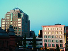 The Blue Hour (Brandon Godfrey) Tags: canada building bus sussex twilight downtown bc dusk victoria pacificnorthwest northamerica 2009 doubledecker thebluehour thestrath douglasst downtownvictoriabc vicfan thestrathaconahotel