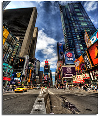 Times Square..A Concrete Jungle. (kw~ny) Tags: nyc newyorkcity timessquare hdr crossroadsofamerica d700