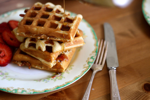 Brown Sugar Bacon Waffles | Joy the Baker