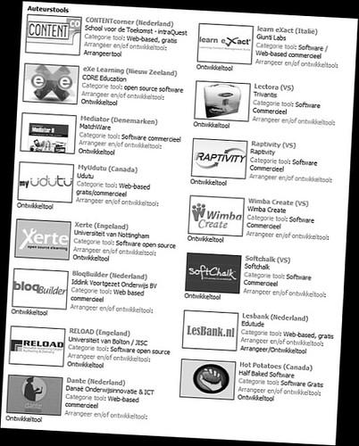 Digitaal leermateriaal - Auteurstools [Kennisnet]