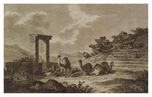 011- Vista de las ruinas de un teatro en Telmissus-Voyage pittoresque de la Grèce 1782