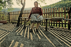 Vlah Woman, Homolje, Serbia (Aleksandra Radonic) Tags: portrait mountains history rural shadows photojournalism social mysterious oldwoman balkans anthropology thesecretlifeofplants sociology vlasi vlahmagic