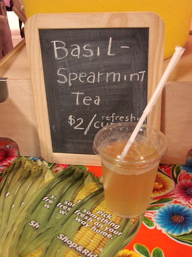 Basil Spearmint Tea from Katchkie at the Port Authority