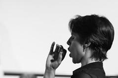 Conduct (nosha) Tags: portrait beauty choir mouth concert pattern hand performance may noflash sing singer perform headshots ensemble 2009 f28 conductor lightroom individuals 200mm conduct blackmagic cqw nosha 80200mmf28 0ev 1125sec nikond300 may2009 1125secatf28