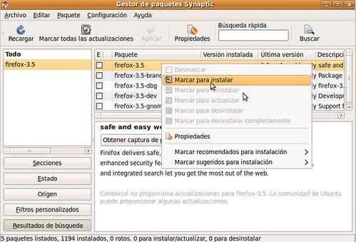 Instalar Firefox 3.5