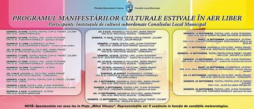 Manifestari culturale estivale in Craiova