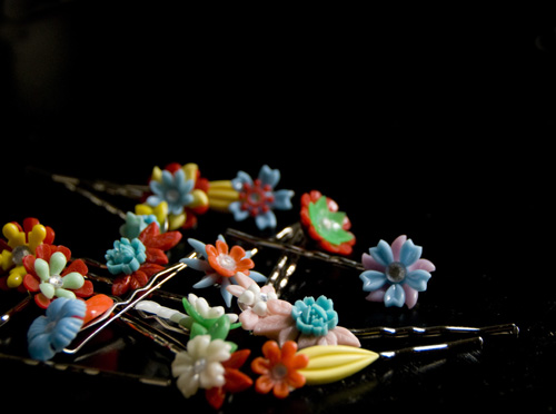 vintage flower boby pins