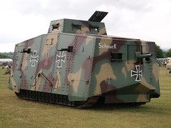 A7V (Megashorts) Tags: uk army war tank military wwi olympus replica german armor dorset vehicle e3 ww1 fighting armour armored zuiko 2009 tankmuseum armoured zd 1454mm bovingtontankmuseum tankfest a7v tankfest2009 bovingtonmuseum