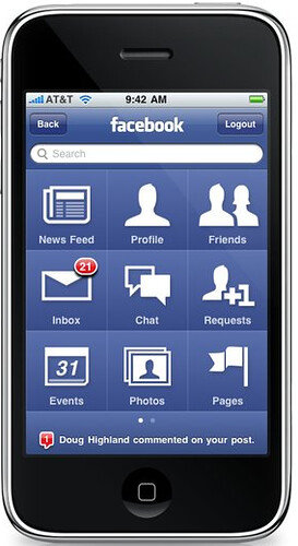 New FB iPhone app 3.0