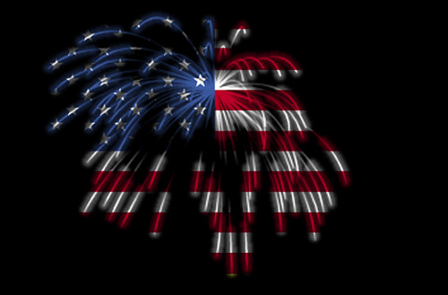Happy 4th of July! The American Flag in Fireworks by Beverly & Pack, flicrk user walkadog