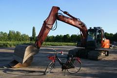 Excavator vs Bike by drooderfiets