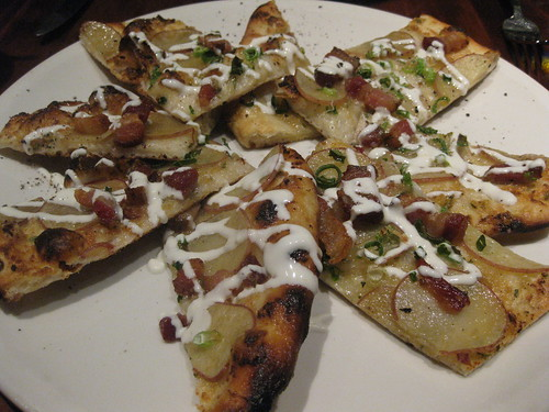 NOPA in San Francisco - Flatbread, bacon, potatoes, scallions, rosemary and yogurt