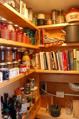 WIP - Pantry (A. Drauglis) Tags: house home kitchen closet herbs space small workinprogress wip storage shelf spices shelving jams homeimprovement cookbooks pamtry