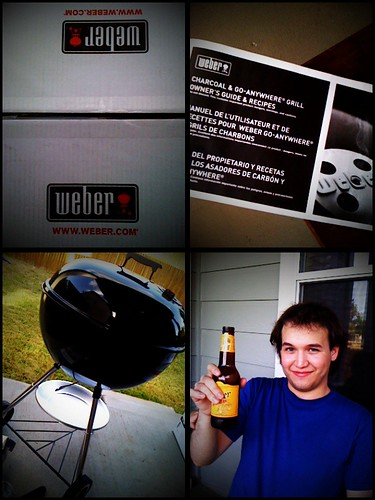 Weber One Touch charcoal grill picture