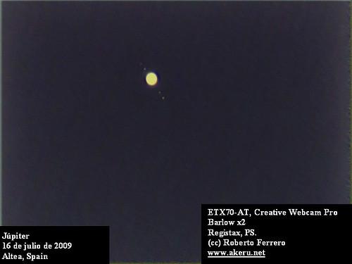 Júpiter con el ETX70